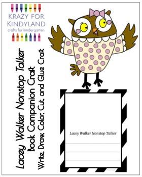 Lacey Walker Nonstop Talker Book Companion Craft for Kindergarten