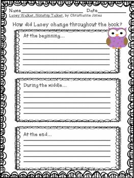 Lacey Walker, Nonstop Talker Writing Activities