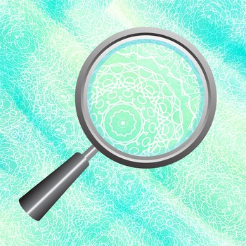 Lacey Watercolor Blue Green Mandala Patterns Clip Art for Commercial Use