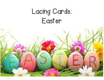 Lacing Cards: Easter, Fine Motor