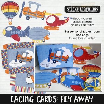 Lacing Cards: Fly Away