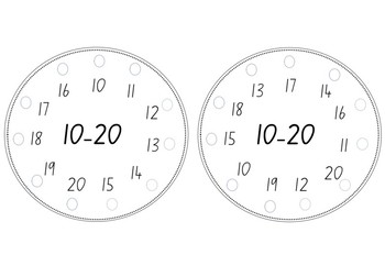 Lacing Cards for Counting 1-10, 10-20 and 20-30