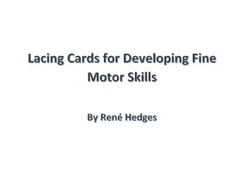 Lacing Cards for Developing Fine Motor Skills