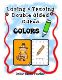 Lacing & Tracing Cards 2 Sided - 12 Colors - Preschool Fin