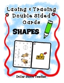 Lacing & Tracing Cards - 2 Sided  23 Shapes  Preschool Fin