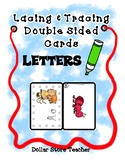 Lacing & Tracing Cards  2 Sided - Alphabet - Preschool Fine Motor - Thanksgiving