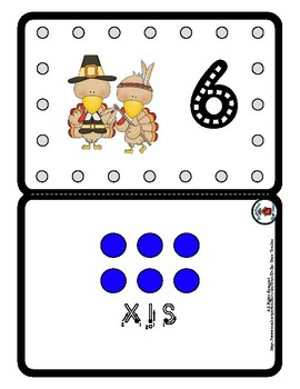 Lacing & Tracing Cards 2 Sided Numbers to 10  Preschool Fine Motor Thanksgiving
