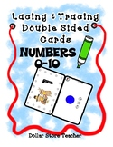 Lacing & Tracing Cards 2 Sided Numbers to 10  Preschool Fi