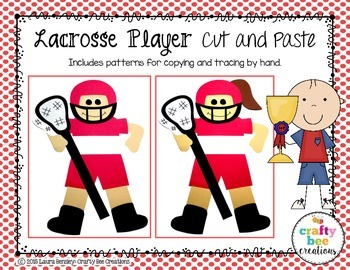 Lacrosse Player Cut and Paste