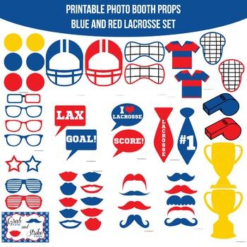 Lacrosse Printable Photo Booth Prop Set