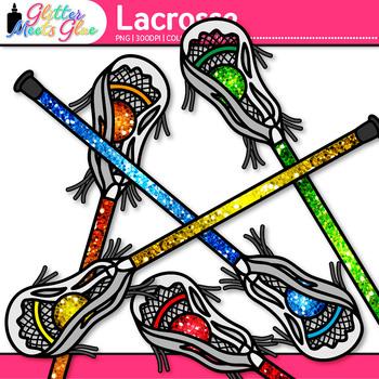 Lacrosse Sticks Clip Art {Sports Equipment for Physical Education Teachers}
