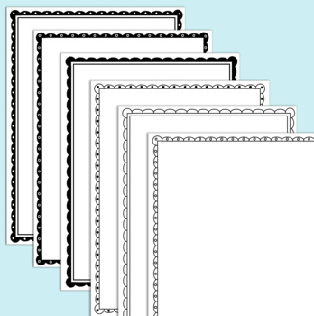 Lacy/Scalloped Page Border Clip Art (12 Variations) by Charlotte Teacher's  Shop