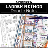 Ladder Method Doodle Notes - Prime Factorization, LCM, GCF