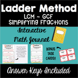 Ladder Method - Interactive Math Journal with Task Cards