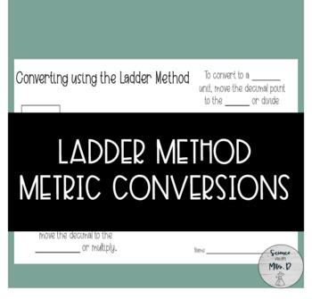 Ladder Method Metric Conversions