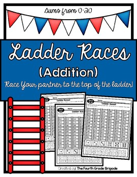 Ladder Races! Addition (Sums 0-20)