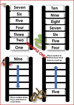 Ladder Sequencing Number Activity Preschool and Kindergarten