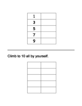 Ladder to Number Writing Fluency