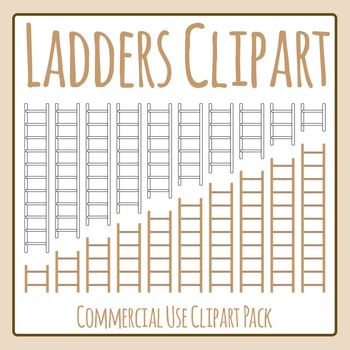 Ladders Lengths Clip Art set for Commercial Use