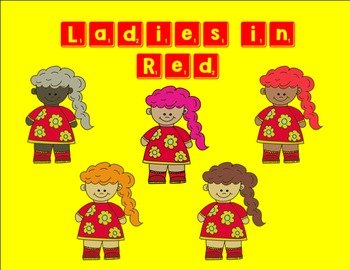 Ladies in Red Clipart