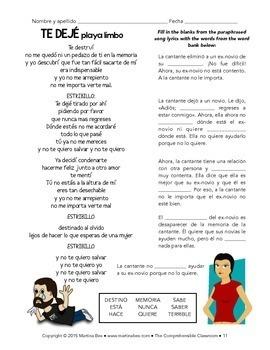 Spanish 1 Storytelling Unit 20: Ladrones