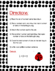 Lady Bug Addition Math Center - Single Digit Numbers