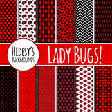 Lady Bug Backgrounds  / Digital Papers / Patterns Clip Art Commercial Use