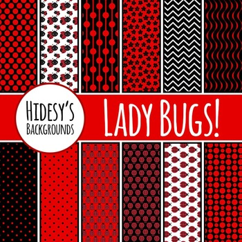 Lady Bug Backgrounds  / Digital Papers / Patterns Clip Art