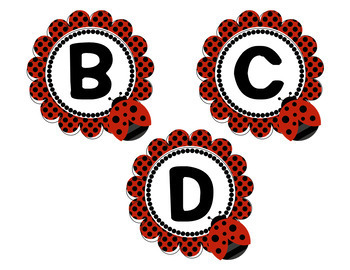 Lady Bug Bulletin Board Pack