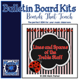 Lines and Spaces Bulletin Board Kit - Lady Bugs