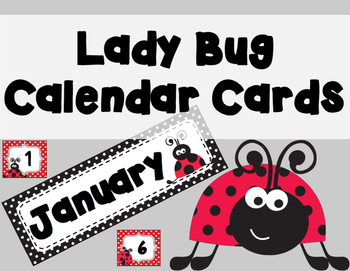 Lady Bug Calendar Cards