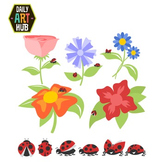 Lady Bug Clip Art - Great for Art Class Projects!