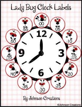 Ladybug Clock Labels