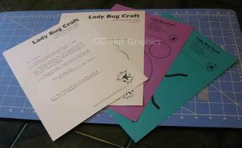 Lady Bug Craft Template PDF