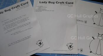 Lady Bug Craft Card PDF
