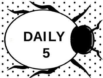 Lady Bug Daily 5 Signs