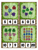 Lady Bug Glitter Clip Cards Math Center Counting 0 to 20 -