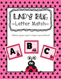 Lady Bug Letter Match - (matching upper case with lower case letter)