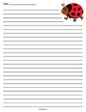 Ladybug Lined Paper