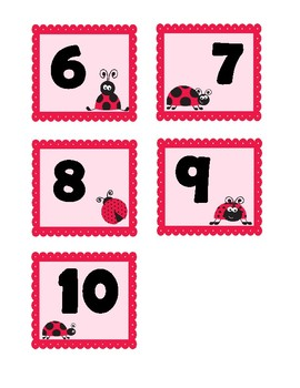 Lady Bug Number Match (0-10) - match numbers to number words