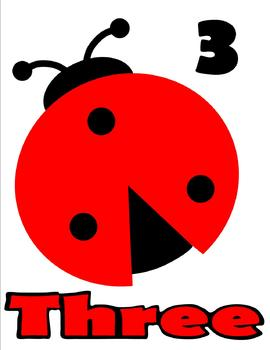 Lady Bug Number Posters