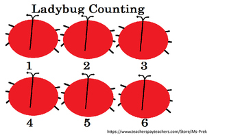 Preschool Lady Bug Counting Game