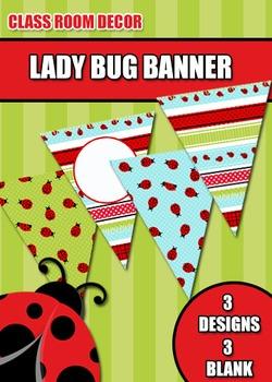 Lady Bug Pennant Banner