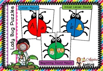 Lady Bug Phonics Puzzles
