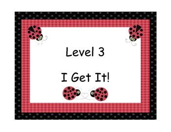 Ladybug Student Levels Marzano