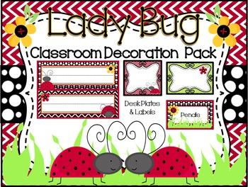 Lady Bug Theme Classroom Decoration Pack