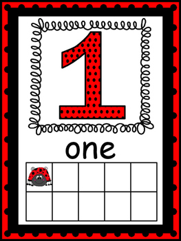 Lady Bug Themed Number Posters #1-20