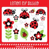 Lady Bugs-Digital Clipart (LES.CL09A)