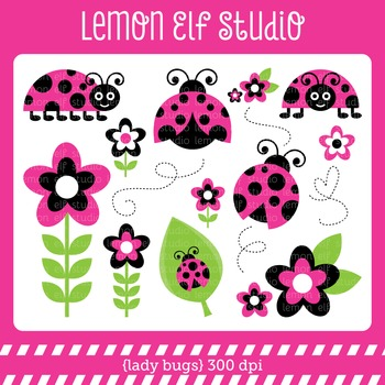 Lady Bugs-Digital Clipart (LES.CL09B)