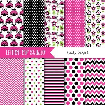 Lady Bugs-Digital Paper (LES.DP09B)